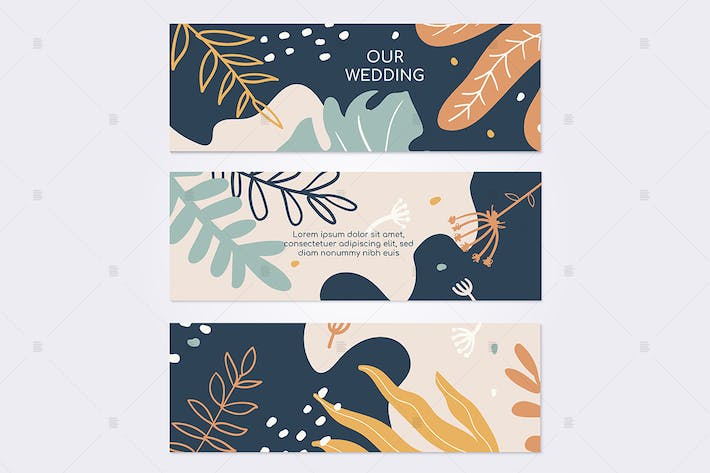 Thumbnail for Marriage ceremony invitation colorful card
