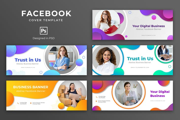 Thumbnail for Business Facebook Cover Template