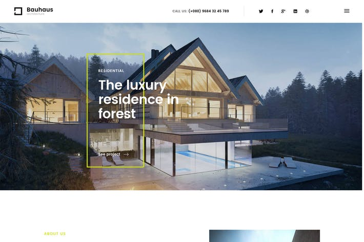 Thumbnail for Bauhaus - Architecture & Interior Drupal 8 Theme