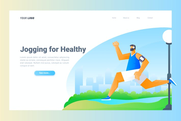 Cover Image For Jogging - Landing Page