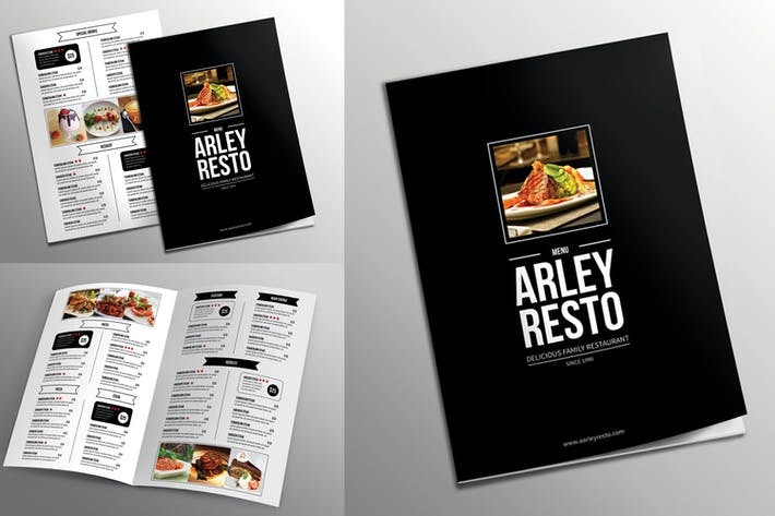 Bifold Simple Restaurant Menu