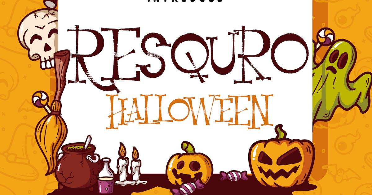 Download Resquro Halloween | Decorative Font by Vunira