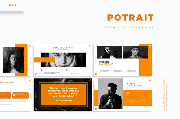 Potrait - Keynote Template