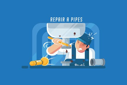 Repair a Pipes - Vector Activity