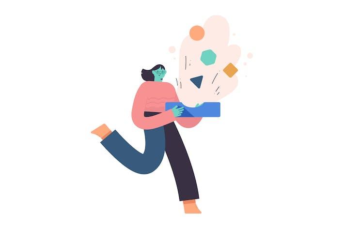 Thumbnail for Inbox Flat Illustration