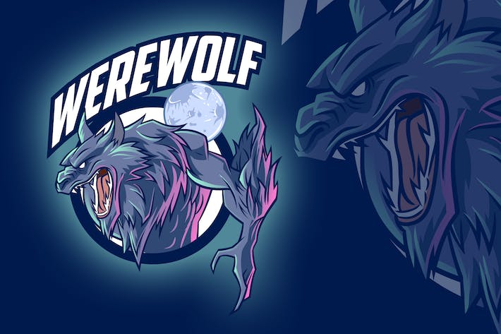 Thumbnail for Werewolf Esports & Sports Mascot Logo