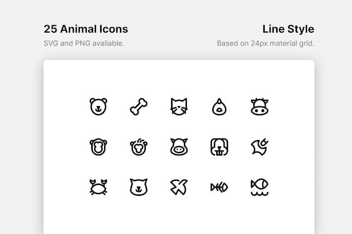 Thumbnail for Animal Line Icons