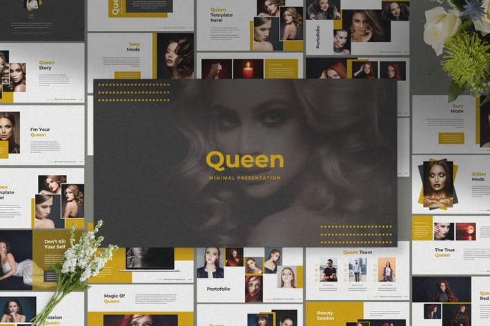 Thumbnail for QUEEN - Keynote Business Minimal Template