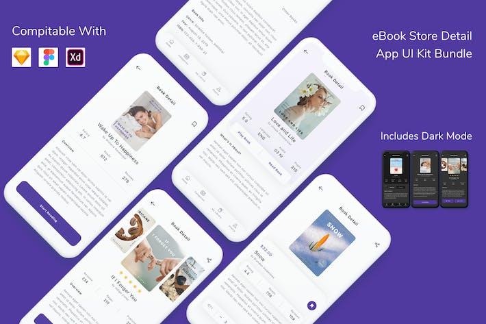 e-Book Store Detail App UI Kit Bundle