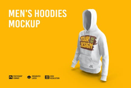 Men's Hoodies Mockup