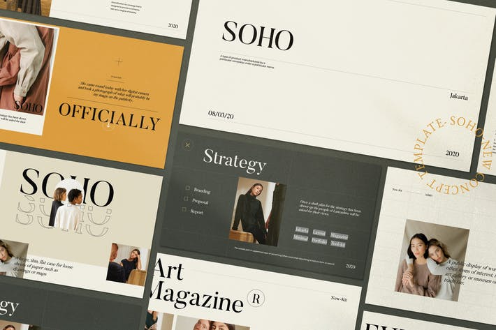 Thumbnail for Soho - Creative  Marketing Google Slide