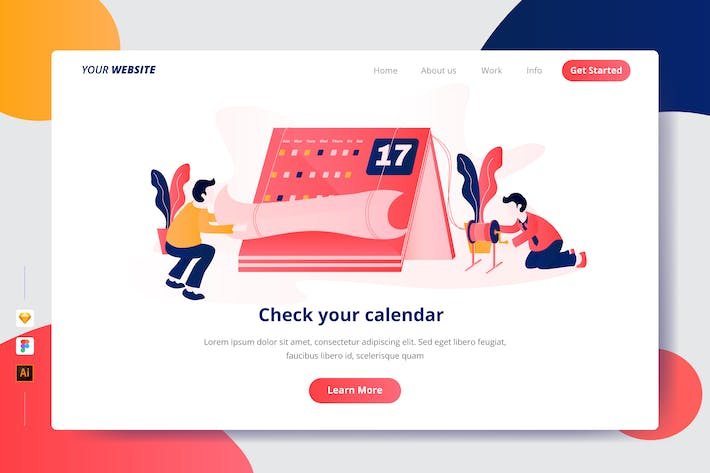 Thumbnail for Check your calendar - Landing Page