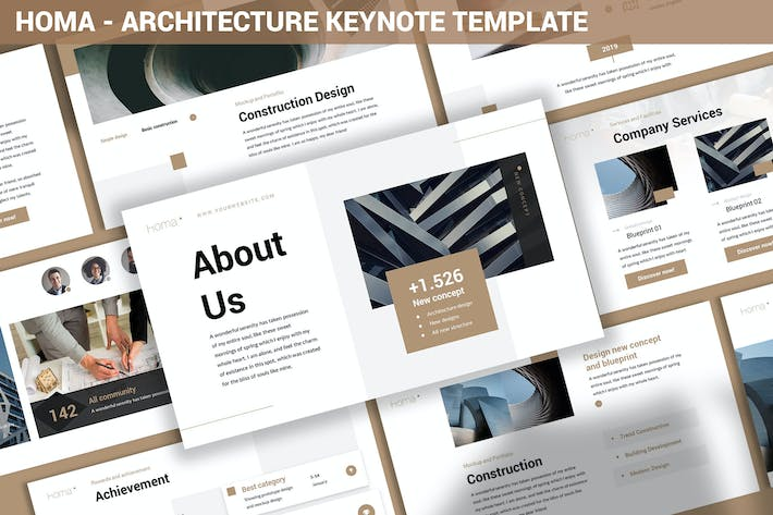 Thumbnail for Homa - Architecture Keynote Template