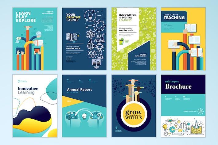 Cover Image For Diseño de la portada del Folleto y Plantillas de disposición del Folleto