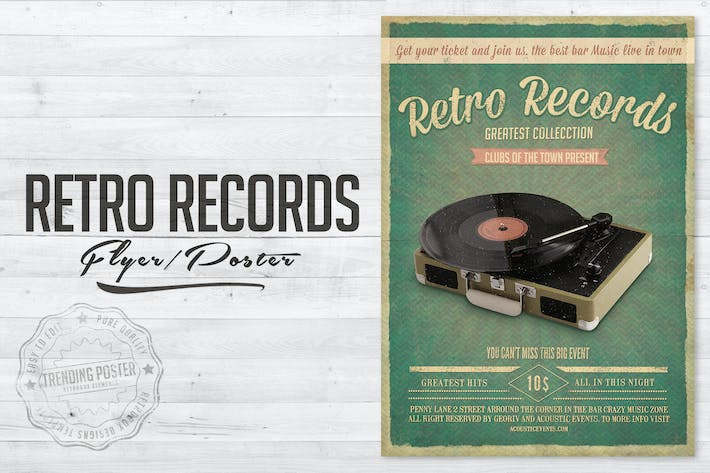 Cover Image For Retro Records Vol. 2 Flyer Poster