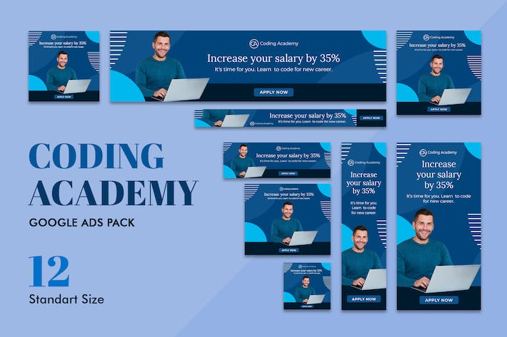 Thumbnail for Google Ads Web Banner Coding Bootcamp Academy