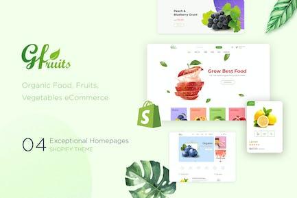gFruits | Comercio electrónico de Comida Tema Shopify