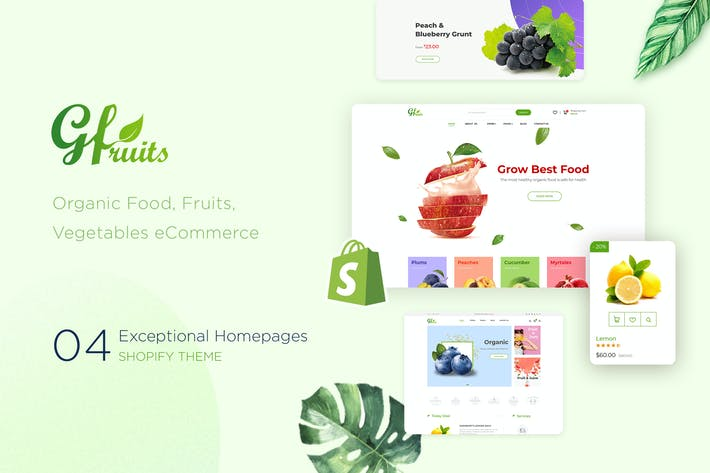 Thumbnail for GFruits | Food eCommerce Shopify Theme
