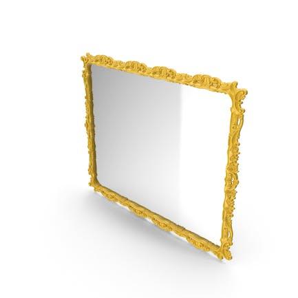 Yellow Baroque Mirror
