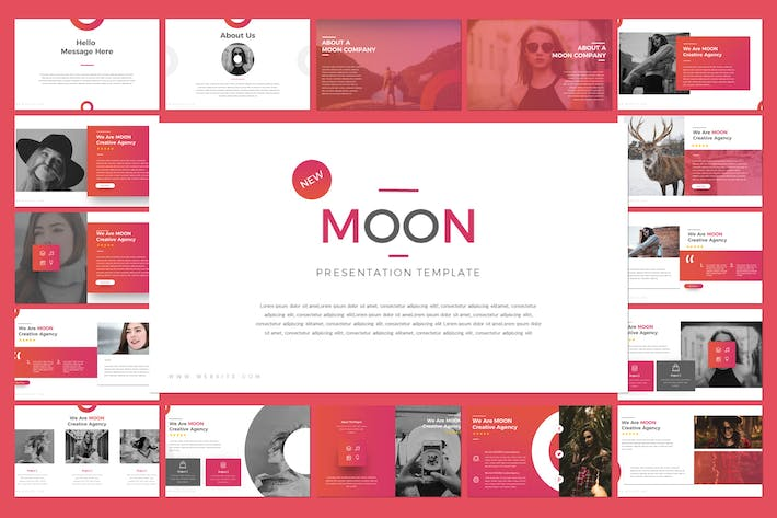 Thumbnail for Moon Keynote Template