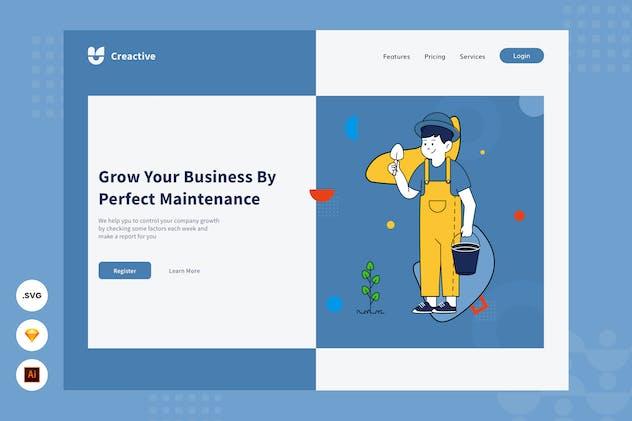 Grow Your Business -  Website Header illustration