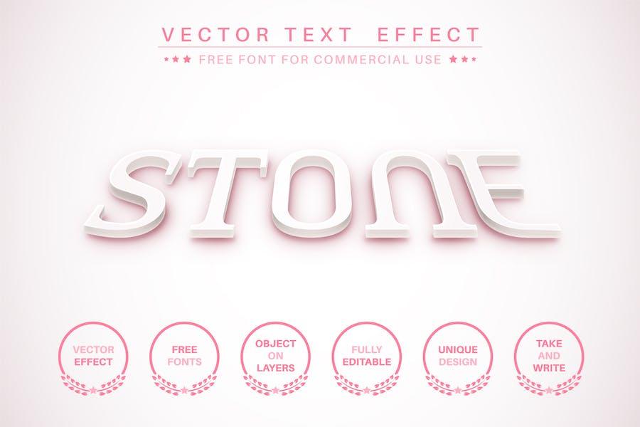 3D text - editable text effect,  font style