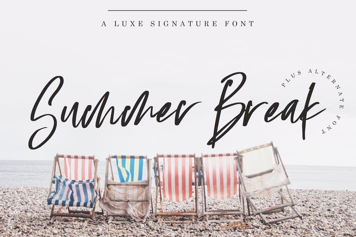 Cover Image For Summer Break Font
