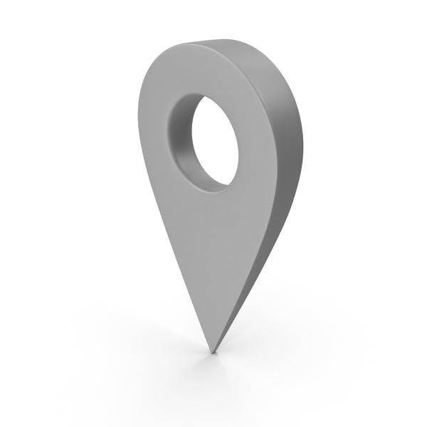 Серый указатель карты
