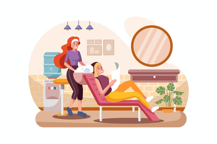 Thumbnail for Woman with hairdresser washing head at hair salon