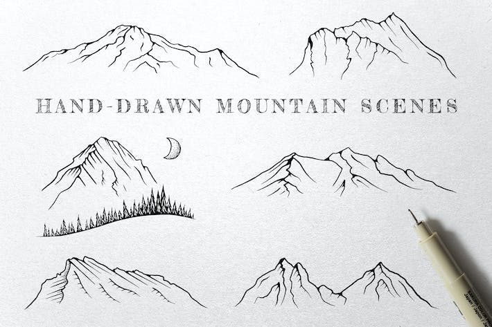 Thumbnail for Hand-Drawn Mountain Scenes