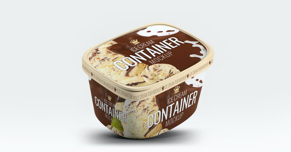 Ice Cream Container Mock-Up by L5Design