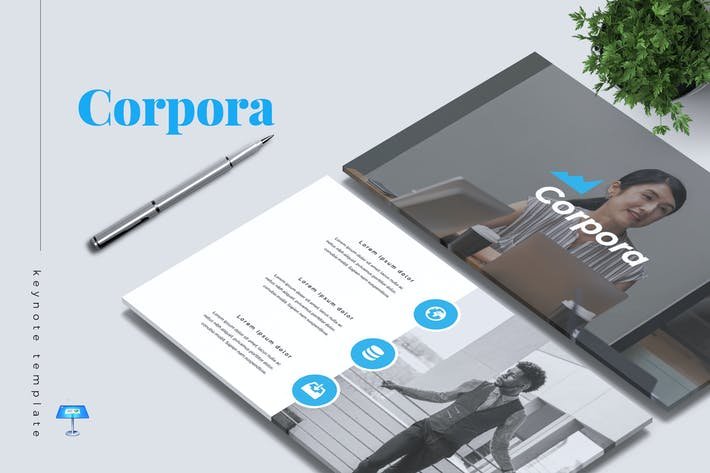 Thumbnail for CORPORA - Company Profile Keynote Template