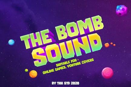 The Bomb Sound - Fuente moderna para juegos de bloques