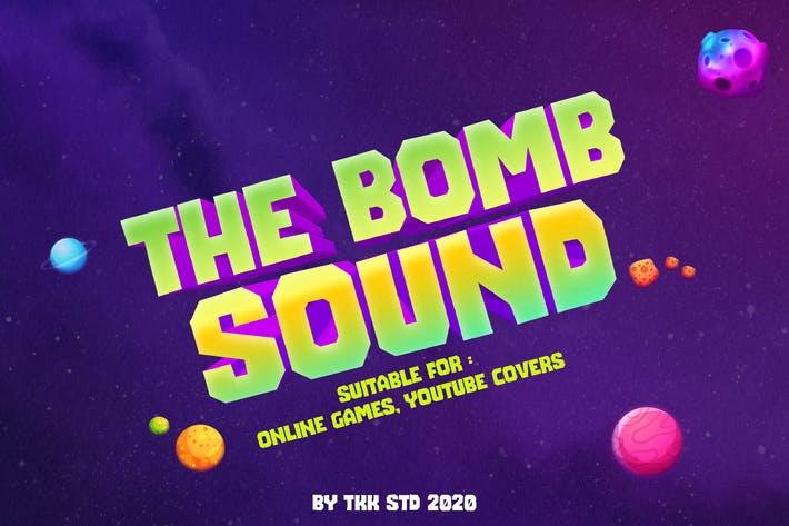 Thumbnail for The Bomb Sound - gaming font