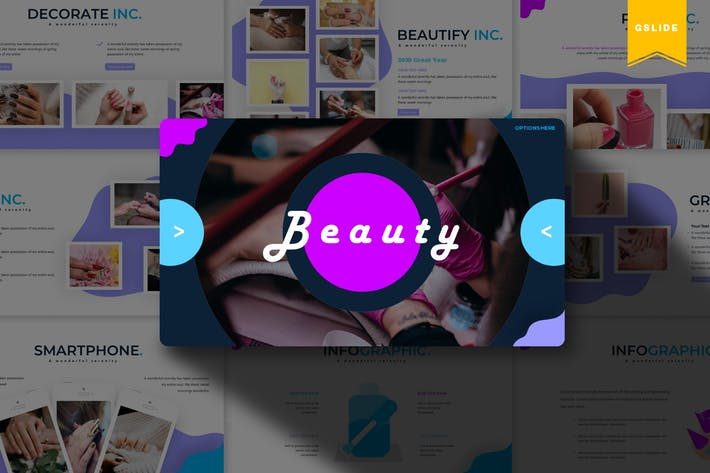 Thumbnail for Beauty | Google Slides Template
