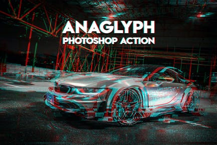 Anaglyph Photoshop Action