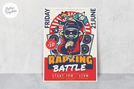 Rap Music Event Poster Template