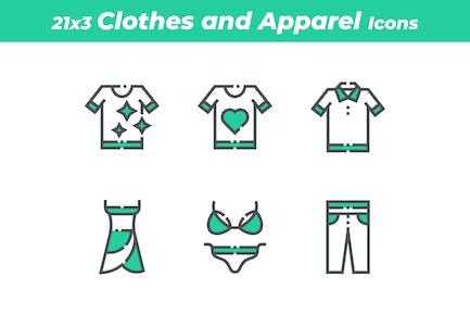 21 Icons für Kleidung und Bekleidung