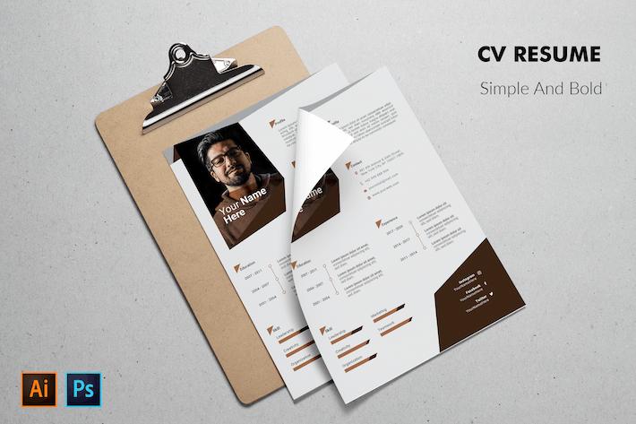 Thumbnail for CV Resume Bold