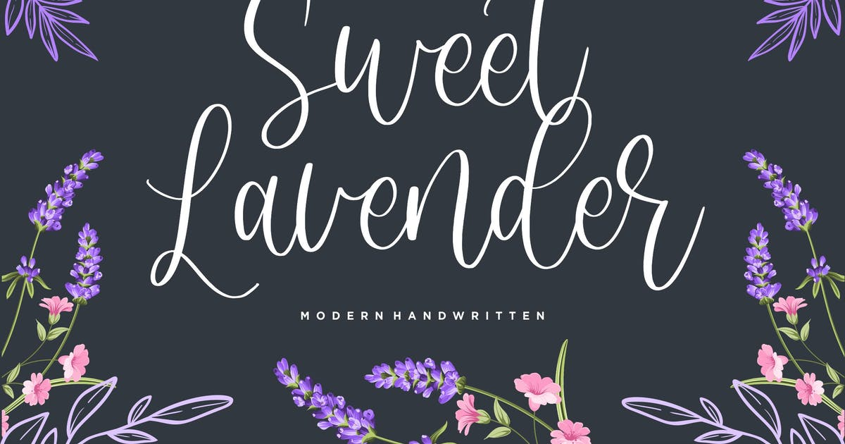 Download Sweet Lavender Calligraphy Font YH by GranzCreative