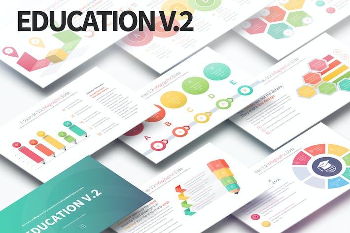 Thumbnail for Education V.2 - PowerPoint Infographics Slides