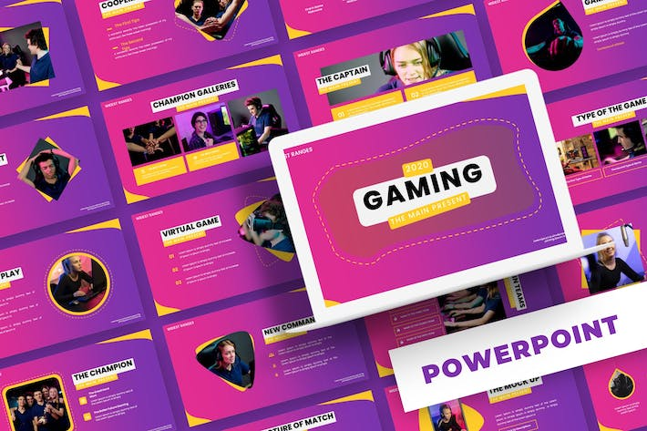 Thumbnail for Gaming - Powerpoint Template