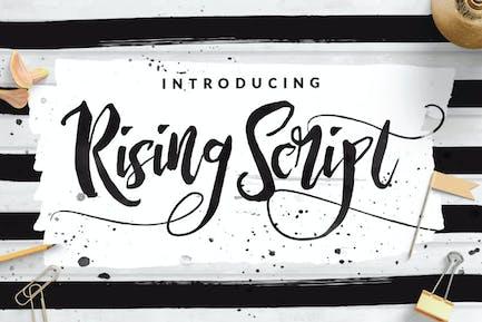 Rising Brush Script Signature logotype