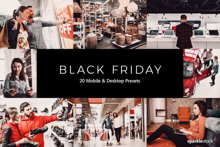 Thumbnail for 20 Black Friday Lightroom Presets & LUTs