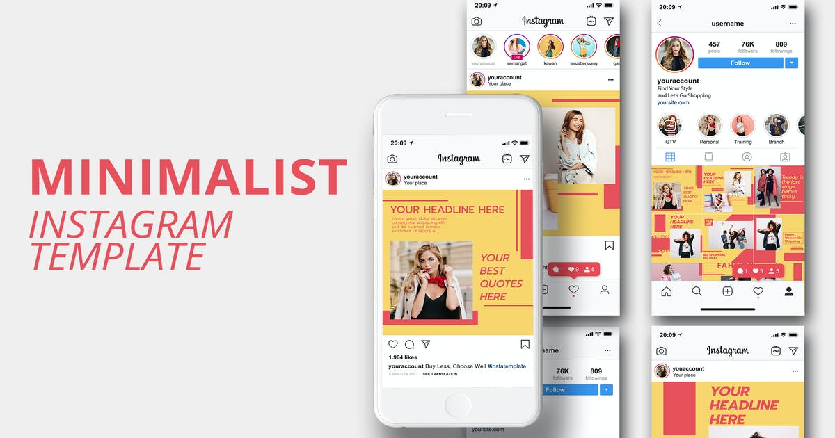 Download MS - Minimalist Instagram Template Vol 2 by ViactionType