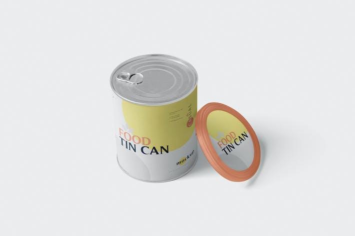 Thumbnail for Food Tin Can Mockup Medium Size - Round