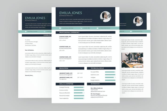 Thumbnail for Business analyst Resume Designer