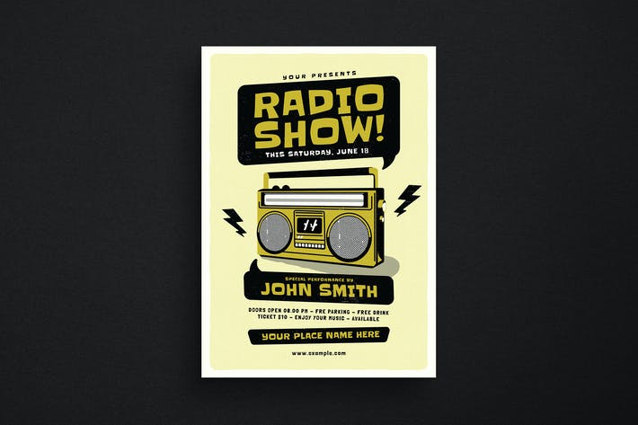 Thumbnail for Edgy Radio Event Flyer