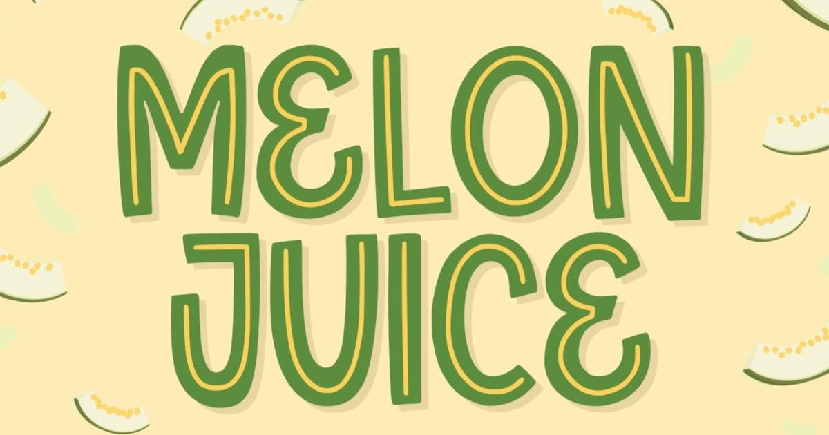Download Melon Juice - Freshty Font by garisman