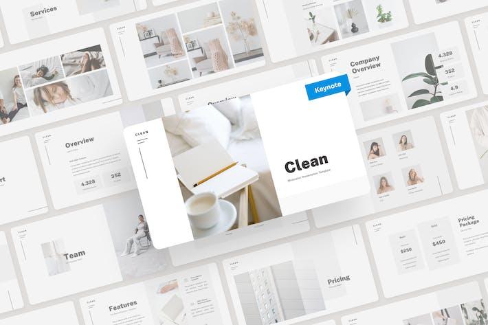 Clean - Minimalist Keynote Presentation